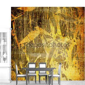 Искусство цветочные Винтаж Бамбуковая фон