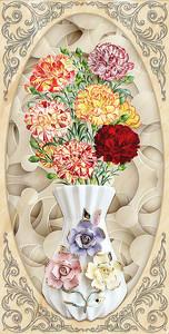 Гвоздики в вазочке