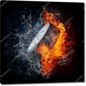 Хоккейная шайба в огне и воде