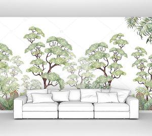 Тропические деревья и листья