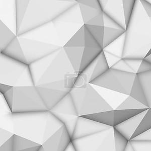 Белый фон абстрактный полигональные