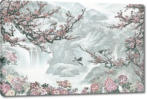Сакура и водопады