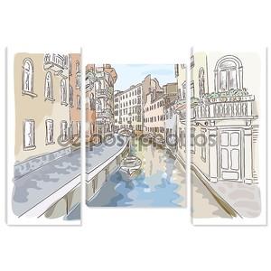 Венеция. Акварель стиль