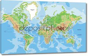 мировая карта с маркировкой.