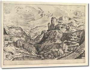 Брейгель. Альпийский пейзаж с глубокой долиной
