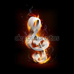 Огненный скрипичный ключ