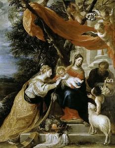Матео Сересо. Мистическое бракосочетание святой Екатерины