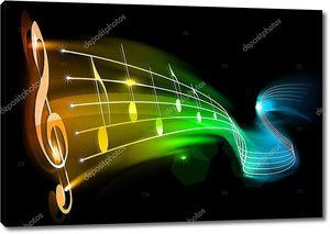 Музыка радуги на черном