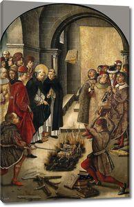 Берругете Педро. Святой Доминик сжигает книги еретиков