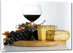 Натюрморт с вином и сыром