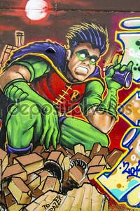 Граффити с персонажем