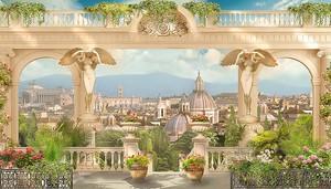 Вид с террасы на старый город