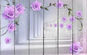 Цветы на фоне коридора