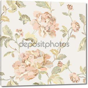 Бесшовный узор элегантность с цветы розы