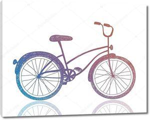 Retro hipster bike.