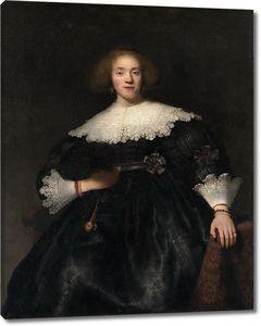 Рембрандт. Портрет молодой женщины с веером