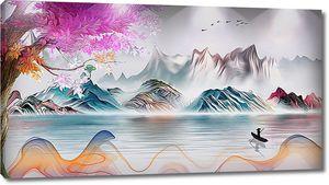 Холмы яркими красками