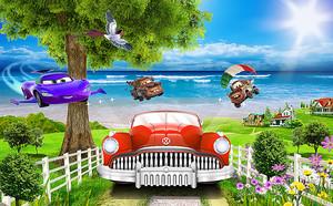 Автомобильчики на берегу