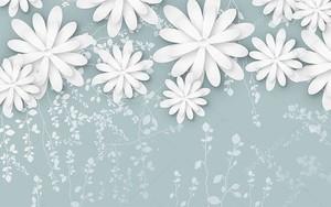 Цветы из бумаги на гранжевом фоне