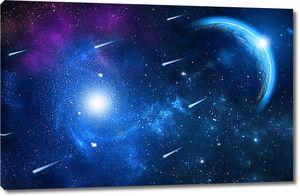 Звездопад в открытом космосе
