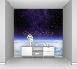 Облака планеты Земля и звезда