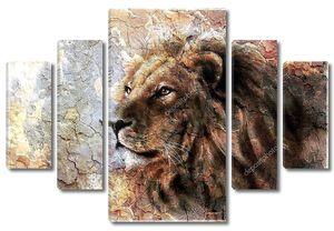 красивая картина львиная голова с шаблоном пустыни мирное выражение majesticaly.
