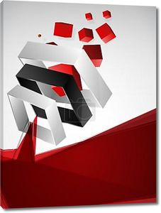 абстрактный геометрический 3-й фон красное