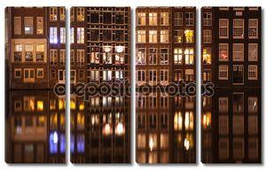 Амстердам улица ночью