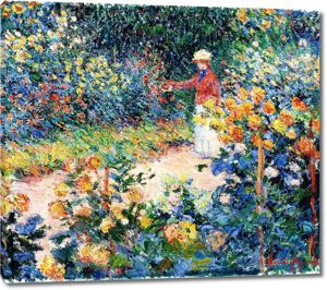 Моне Клод. В саду, 1895
