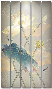 Рисованный цветок лотоса