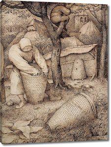 Брейгель Рисунок. Пчеловоды. фрагмент