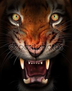 Разъяренного тигра