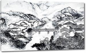Мост соединяет два берега