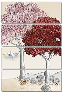 Деревья с серебряными стволами