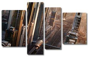 панорамный вид на Дубай