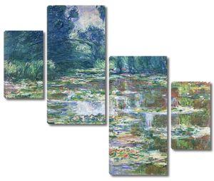 Моне Клод. Пруд с водяными лилиями и японский мостик, 1905 01