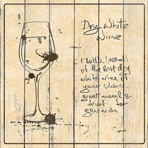 Hand drawn White Wine