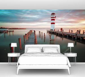 Landscape ocean sunset - lighthouse