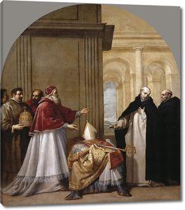 Кардучо Висенте. Святой Бруно отказывается от архиепископства Реджио Калабрия