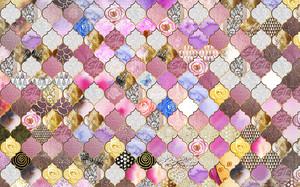 Мозаичный узор с цветами