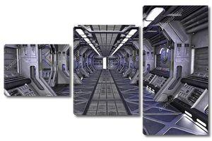 Интерьер научно-фантастического коридора