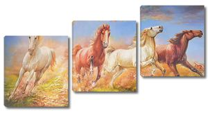 Красивый бег лошадей