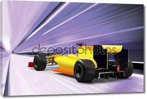 Спортивный автомобиль на дороге, высокая скорость