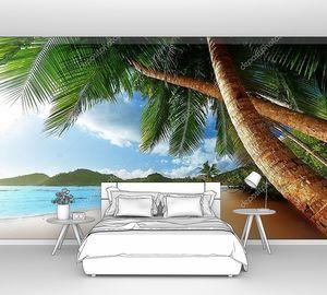 Закат на пляже Сейшел