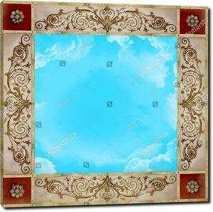 Изумрудное небо в прямоугольнике