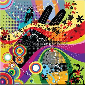 Абстрактный фон с пальмой цвет