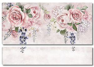 Орнамент из букетов роз