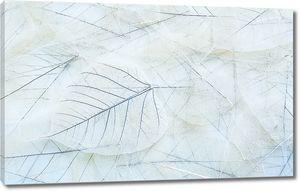 Узор из прозрачных листьев