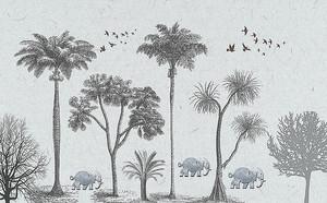 Слоны под пальмами