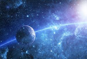 Планета движется по дуге